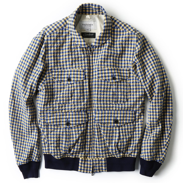 [EASTLOGUE] BLOUSON YELLOW&BLUE CHECK