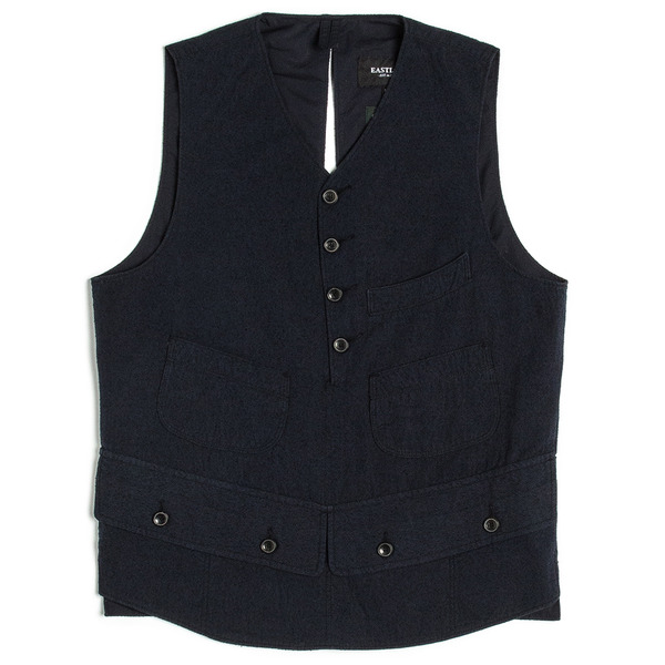 [EASTLOGUE] SHOOTING VEST NAVY SLUB