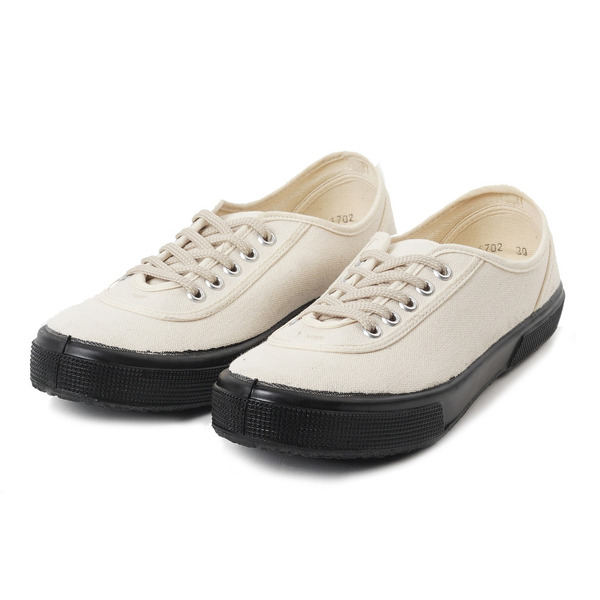 [FERN] Lace Model Low Off White Canvas/Black