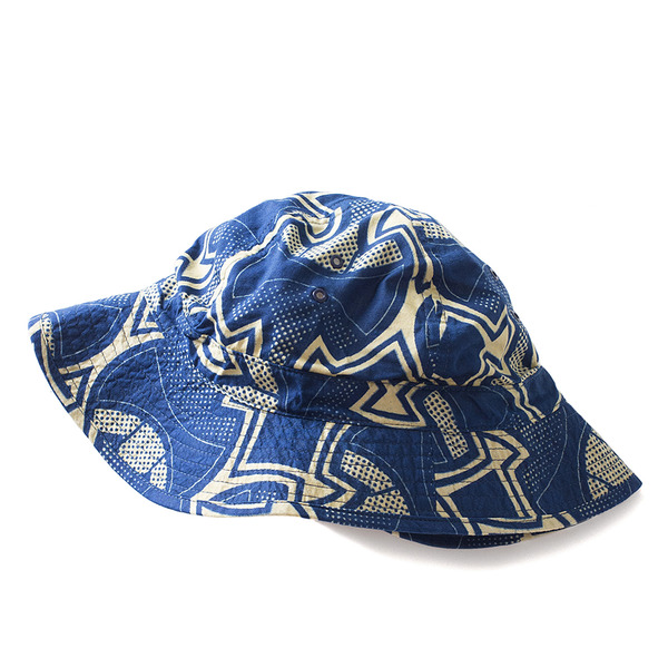[INFIELDER DESIGN] Batik Military Hat (Navy x Off White)