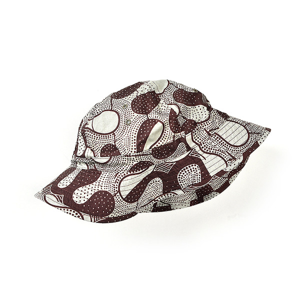 [INFIELDER DESIGN] BATIK MILITARY HAT BROWN