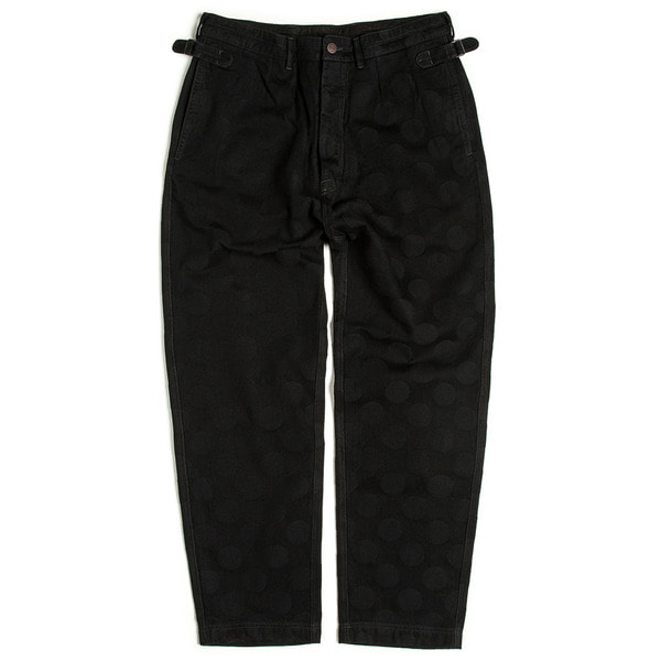 [EASTLOGUE] OFFICER PANTS 'BLACK HIDDEN DOT'