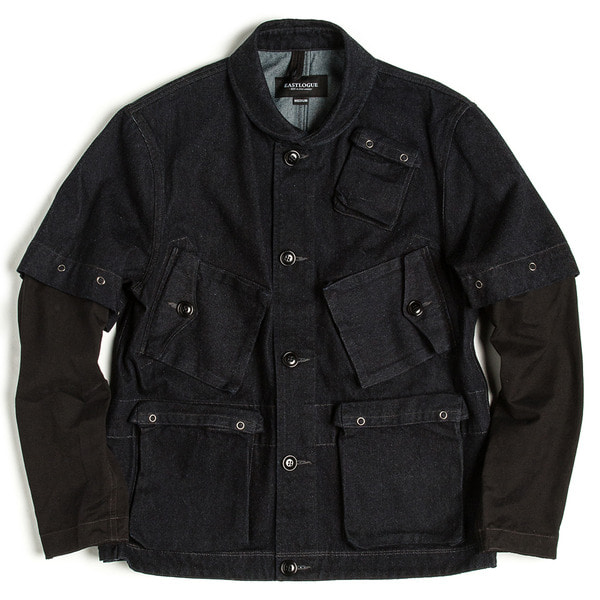 [EASTLOGUE] TRANSMUTABLE C-1 JACKET 'D.NAVY DENIM'
