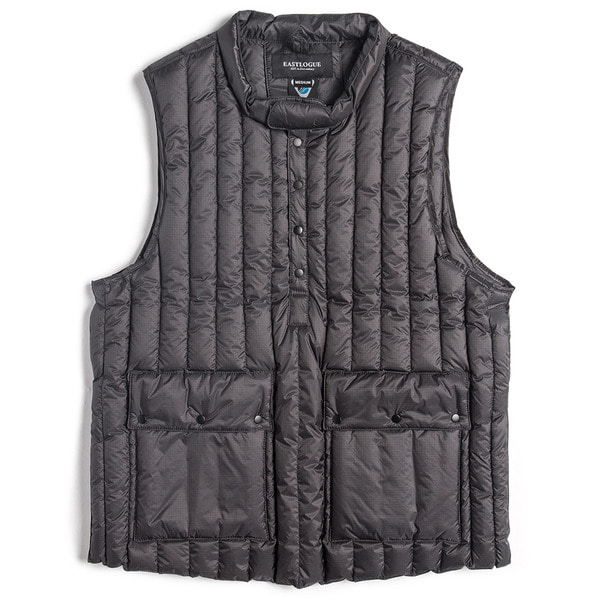 [EASTLOGUE] MOCK NECK PULLOVER DOWN VEST 'GREY'