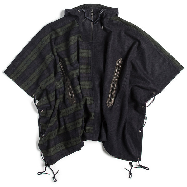 [EASTLOGUE] STORM PARKA 'BLACKWATCH & NAVY'