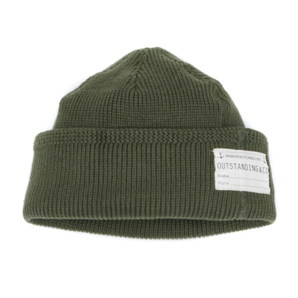 [OUTSTANDING] O.S.NAVY WATCH CAP 'KHAKI'
