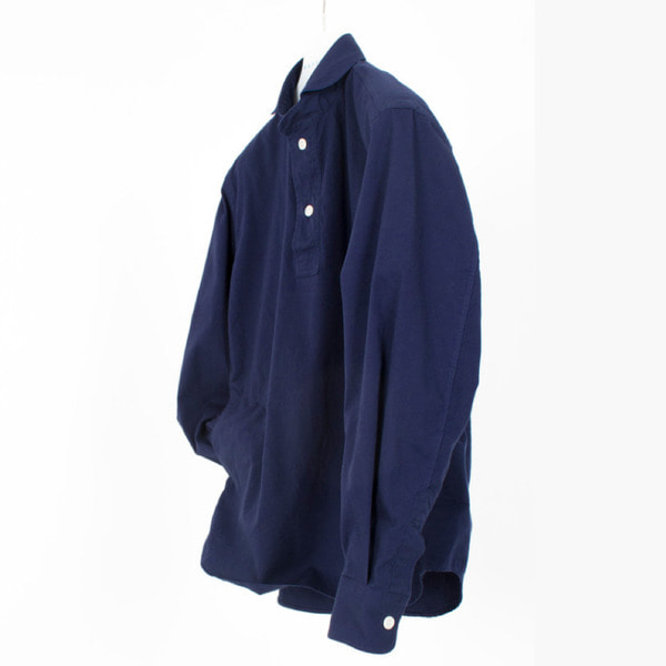 [DOCUMENT] THE DOCUMENT FRENCH ROUND COLLAR SHIRT 'NAVY'