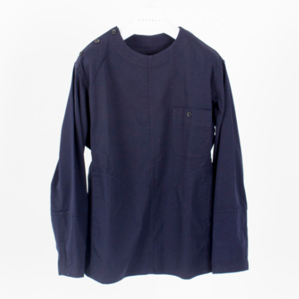 [DOCUMENT] COTTON TWILL SHIRTING JACKET 'NAVY'