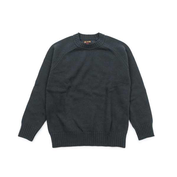 [BIG UNION] WOOL CREW NECK KNIT 'NAVY'