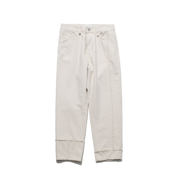 [GAKURO] SLIM TAPERED DENIM 'OFF WHITE'