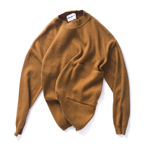 [BIRTHDAYSUIT] BIG POCKET KNIT PULLOVER 'CAMEL'