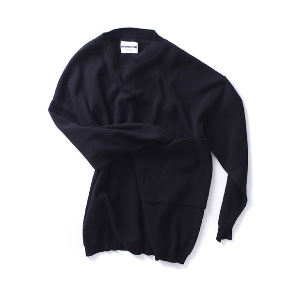 [BIRTHDAYSUIT] BIG POCKET KNIT PULLOVER 'BLACK'