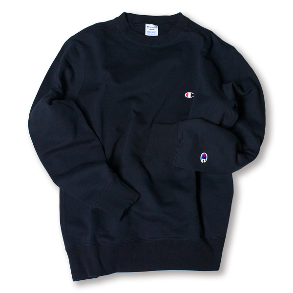 [CHAMPION] BASIC SMALL LOGO SWEAT SHIRT 'NAVY'