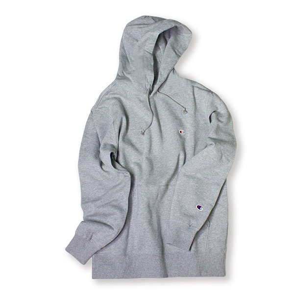 [CHAMPION] BASIC SMALL LOGO HOODIE 'GREY'