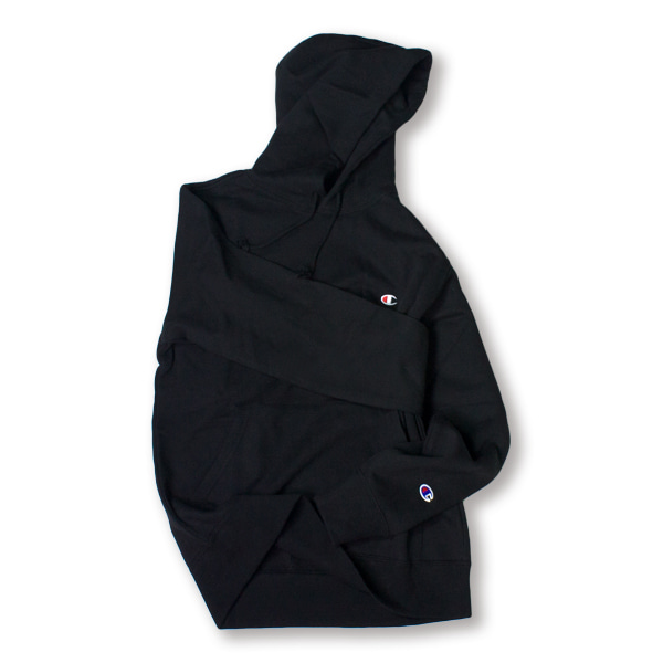 [CHAMPION] BASIC SMALL LOGO HOODIE 'BLACK'