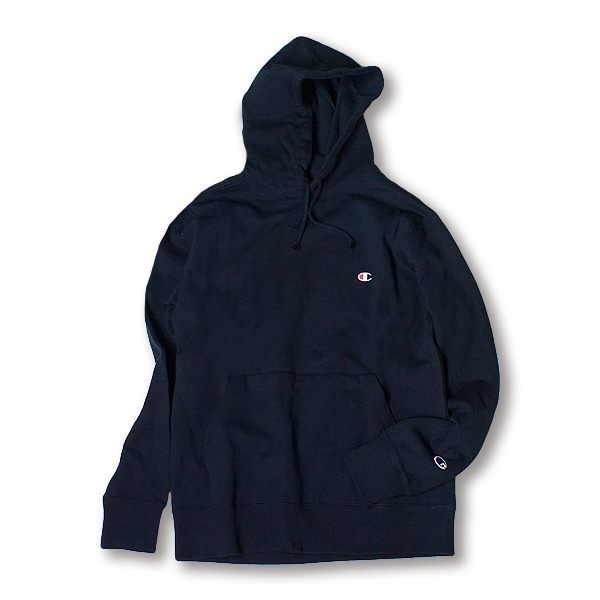 [CHAMPION] BASIC SMALL LOGO HOODIE 'NAVY'