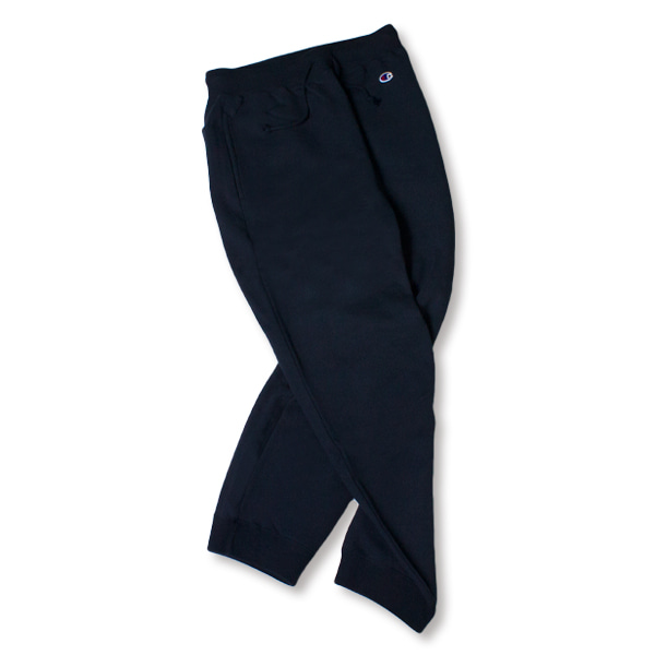 [CHAMPION] BASIC SMALL LOGO SWEAT PANTS 'NAVY'