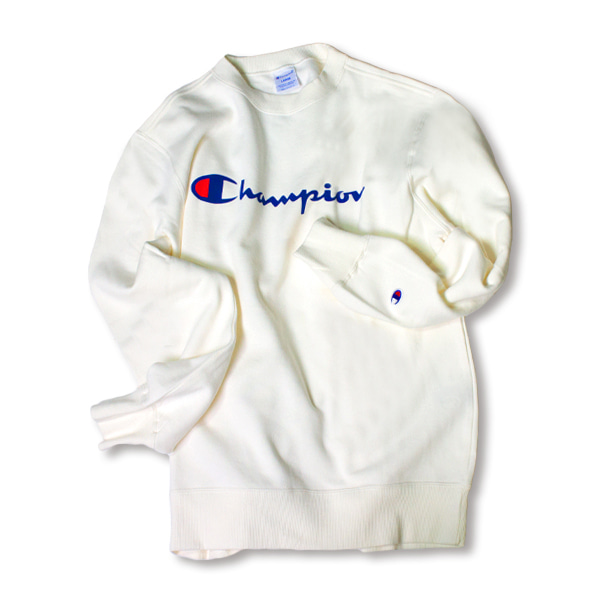 [CHAMPION] BASIC LOGO SWEAT SHIRT 'OFF WHITE'