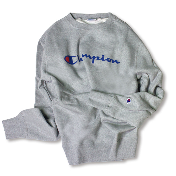 [CHAMPION] BASIC LOGO SWEAT SHIRT 'OXFORD'