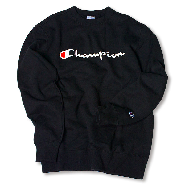 [CHAMPION] BASIC LOGO SWEAT SHIRT 'BLACK'