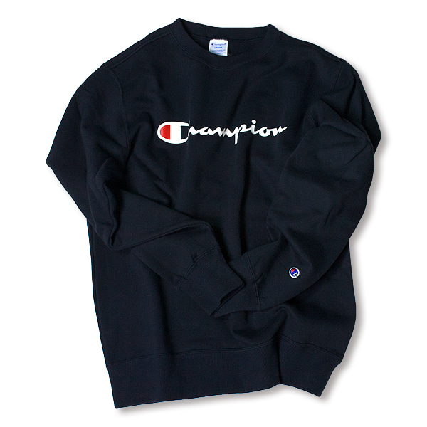 [CHAMPION] BASIC LOGO SWEAT SHIRT 'NAVY'