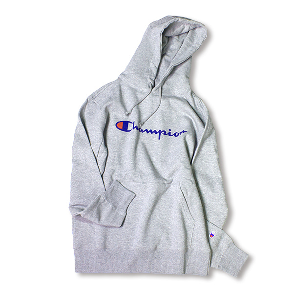[CHAMPION] BASIC LOGO HOODIE 'OXFORD'