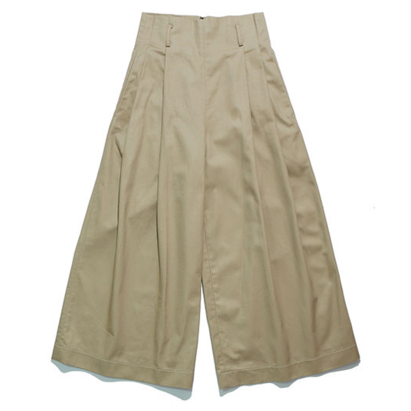 [WORKWARE] MRS.WORKWARE PLEATED CHINO 'KHAKI'