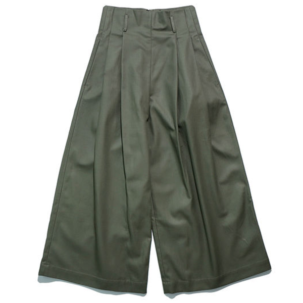 [WORKWARE] MRS.WORKWARE PLEATED CHINO 'GREEN'