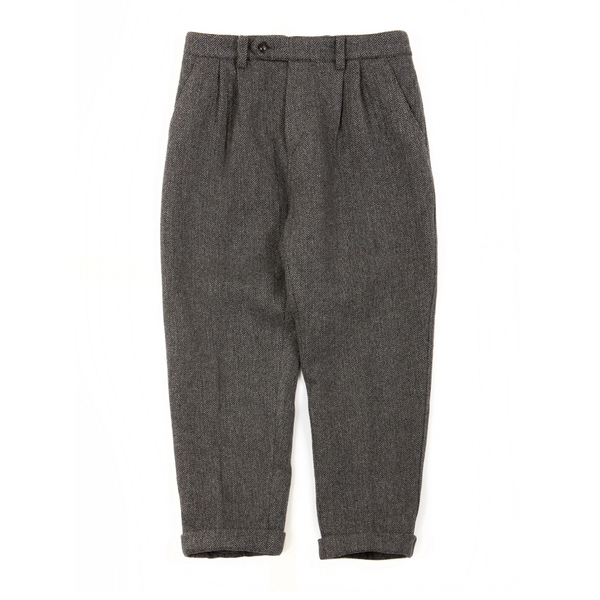 [BROWNYARD] UTILITY PANTS 'GREY HERRINGBONE'