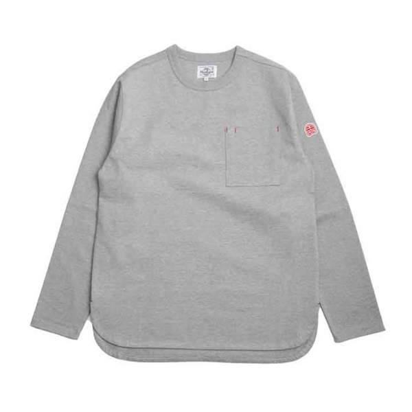 [HORLISUN] EMERY LONG SLEEVE POCKET T-SHIRTS 'GRAY'