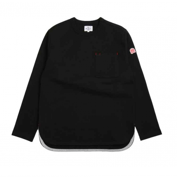 [HORLISUN] EMERY LONG SLEEVE POCKET T-SHIRTS 'BLACK'