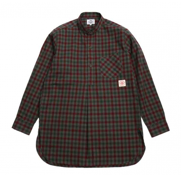 [HORLISUN] STANLEY TUNIC GINGHAM CHECK SHIRTS 'GRAY'