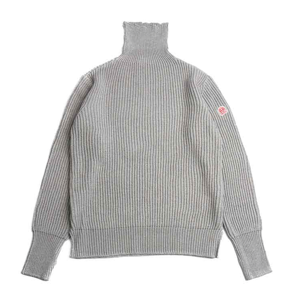 [HORLISUN] DUNDEE TURTLENECK SLIT KNIT 'GRAY'