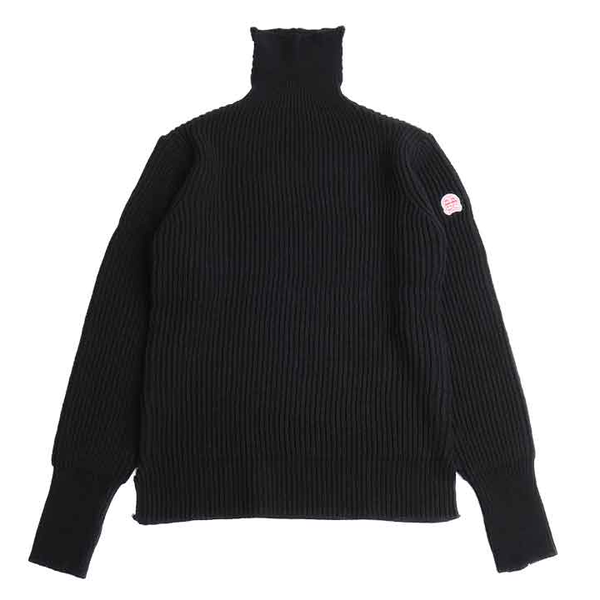[HORLISUN] DUNDEE TURTLENECK SLIT KNIT 'BLACK'