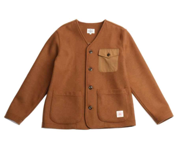 [HORLISUN] MARION POCKET WOOL CARDIGAN JACKET 'CAMEL'