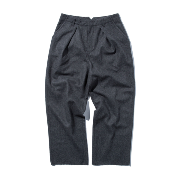 [STAND OUT STORE] WOOL WIDE PANTS 'CHARCOAL GRAY'