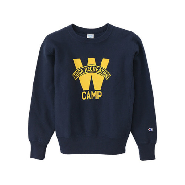 [CHAMPION]REVERSE WEAVE® PRINT CREW NECK SWEATSHIRT (C3-L003) 'DARK NAVY'