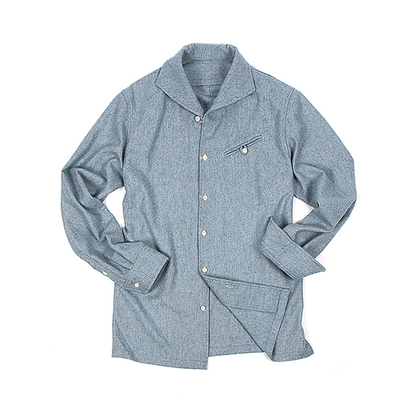 [BEHEAVYER] NAVAL OFFICER SHIRT 'SKY BLUE'