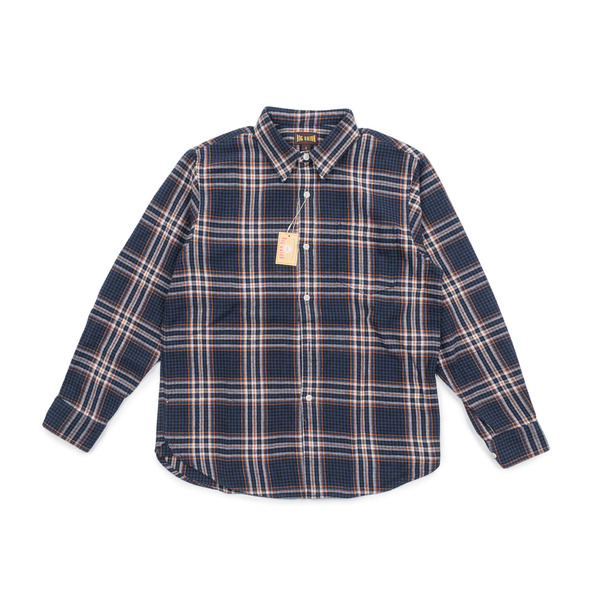 [BIG UNION] 17FW CHECK FLANNEL SHIRT 'NAVY'