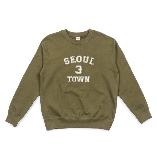 [BIG UNION] 3 TOWN SWEAT SHIRT 'SEOUL'