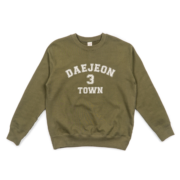 [BIG UNION] 3 TOWN SWEAT SHIRT 'DAEJEON'