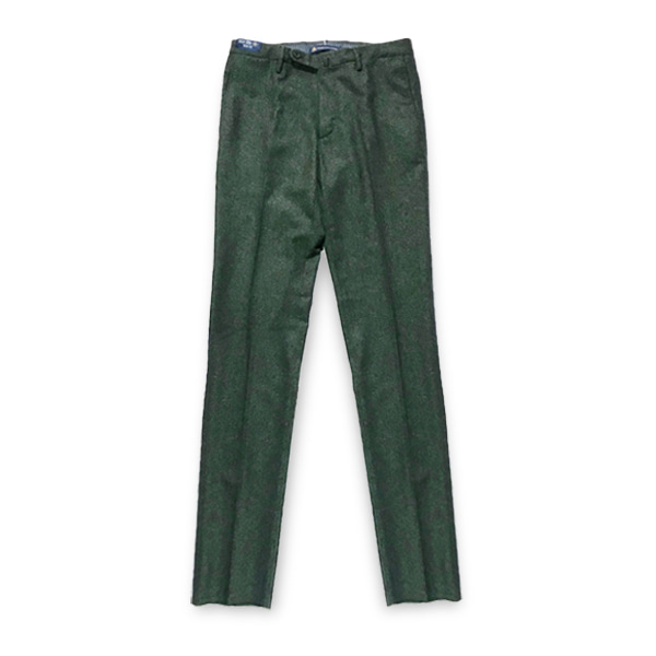 [G.T.A] SLIM FIT WOOL PANTS 'GREEN'