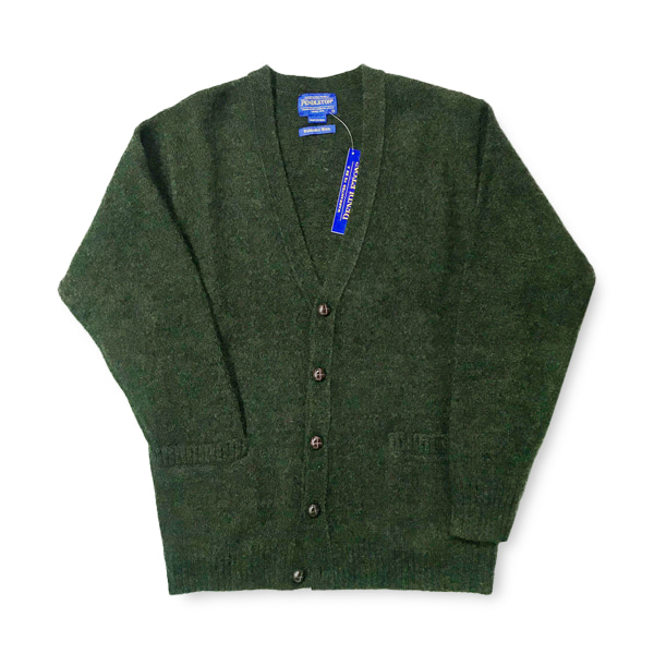 [PENDLETON] WASHABLE WOOL CARDIGAN 'GREEN'