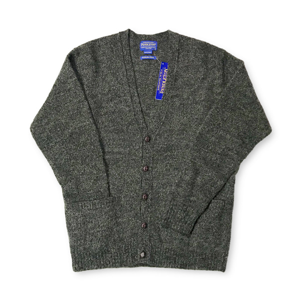 [PENDLETON] WASHABLE WOOL CARDIGAN 'BROWN'