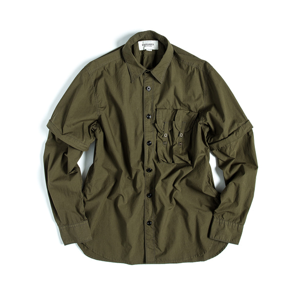 [EASTLOGUE] MAGAZINE SHIRT 'OLIVE DRAB'