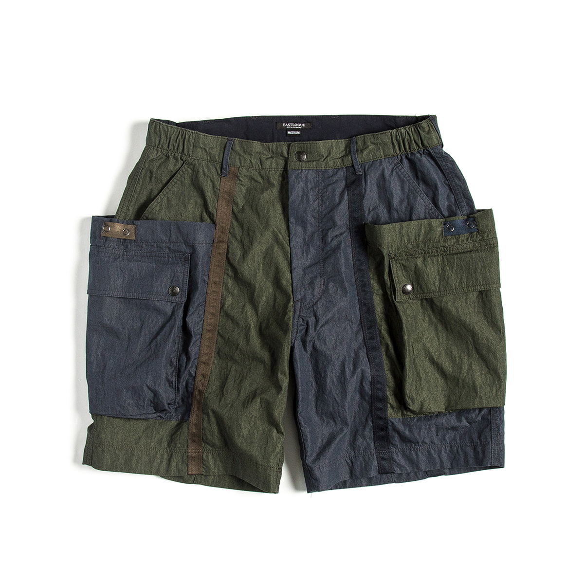 [EASTLOGUE] WAGON SHORTS 'OLIVE & NAVY'