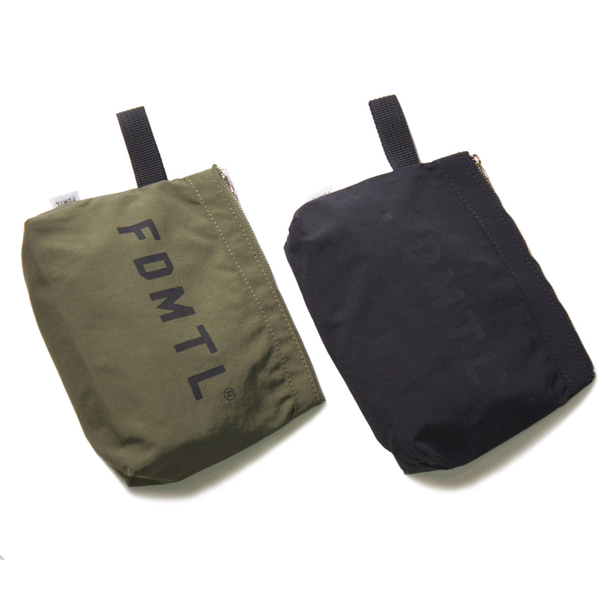 [FDMTL] TRAVEL POUCH 'OLIVE & BLACK'