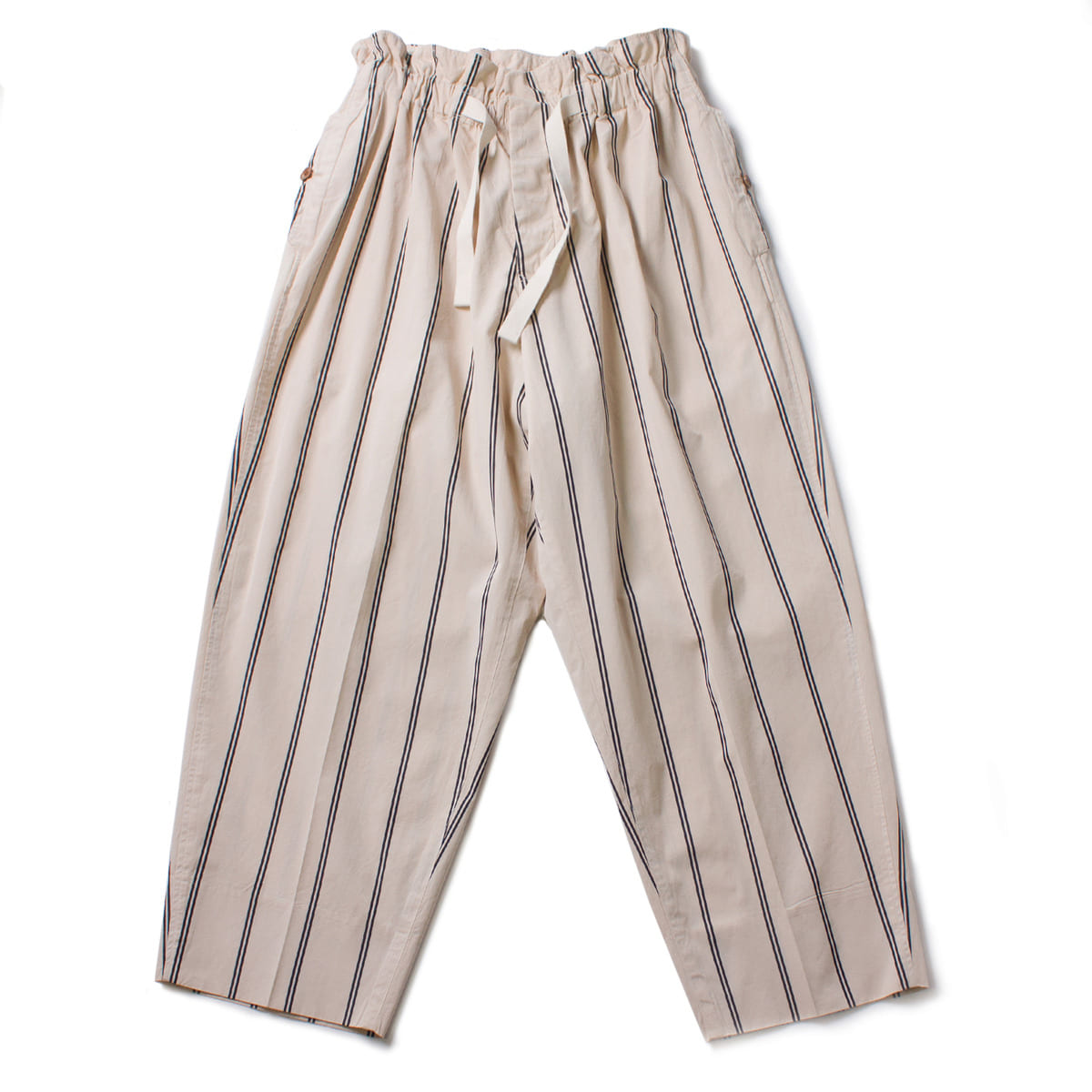 [HAVERSACK] WIDE STRIPE PANTS 'CREAM'