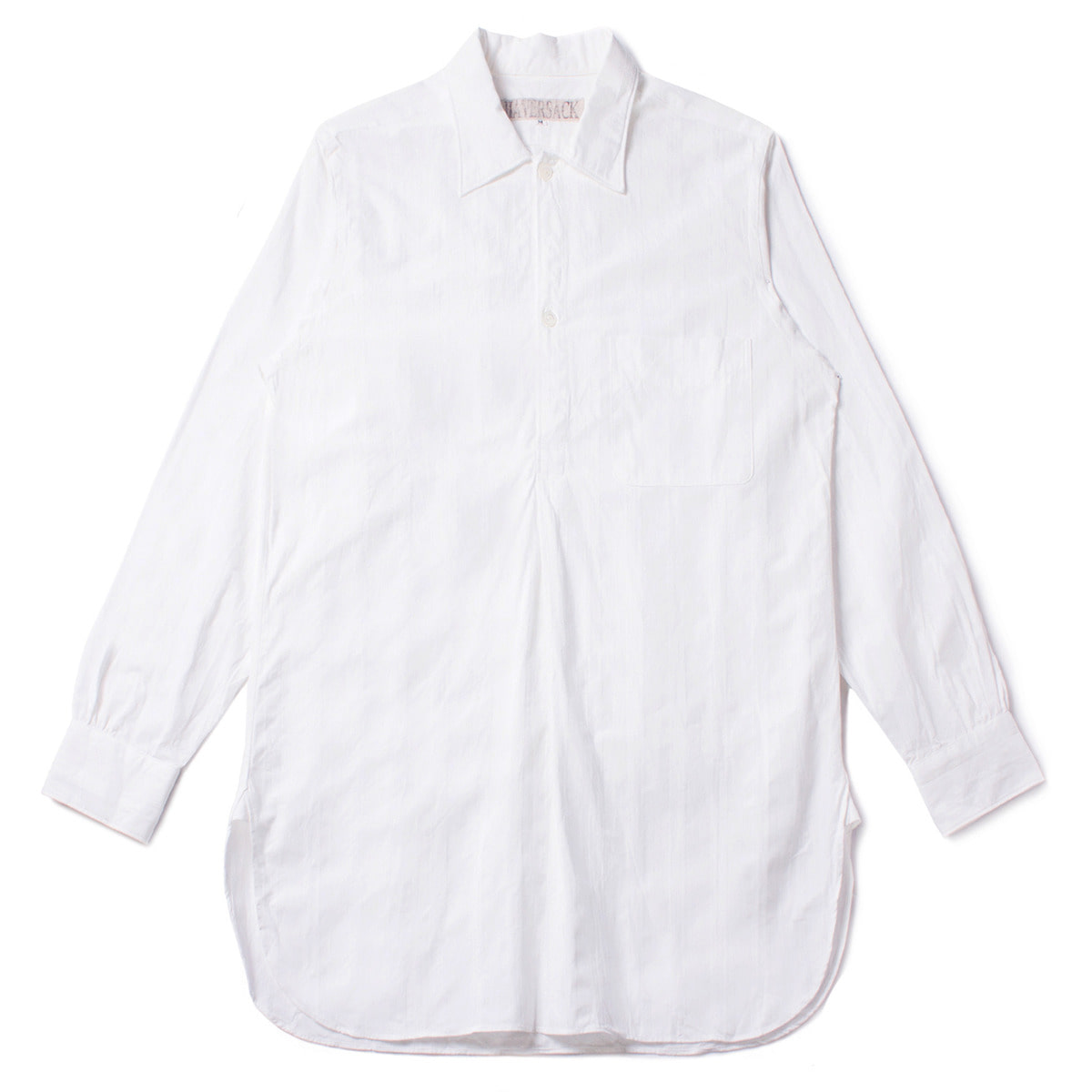 [HAVERSACK] HERRINGBONE STRIPE SHIRT 'WHITE'