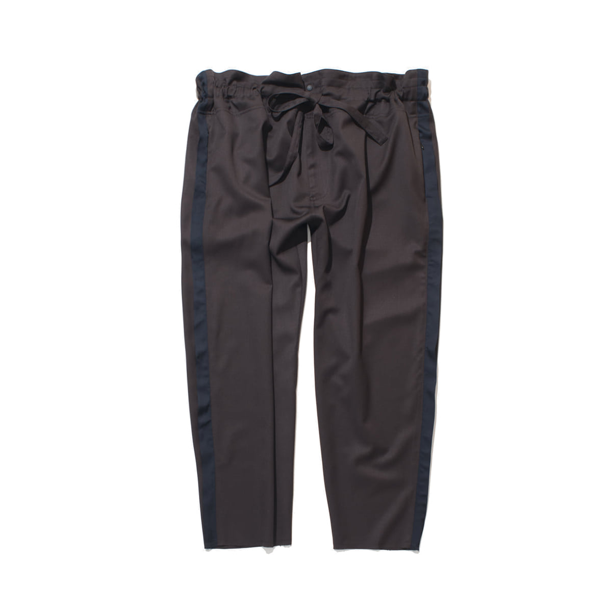 [GAKURO] TAPERED WRAP PANTS 'BROWN'